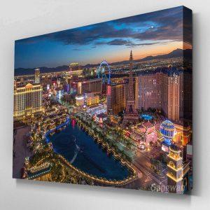 Las Vegas Cityscape Full Mosaic Cross Stitch Painting