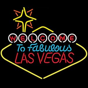 Las Vegas Welcome To Fabulous Las Vegas Glass Neon Light Sign